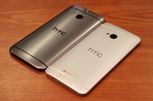 HTC One (M8) vs. HTC One (M7). Foto: OLE PETTER BAUGERØD STOKKE