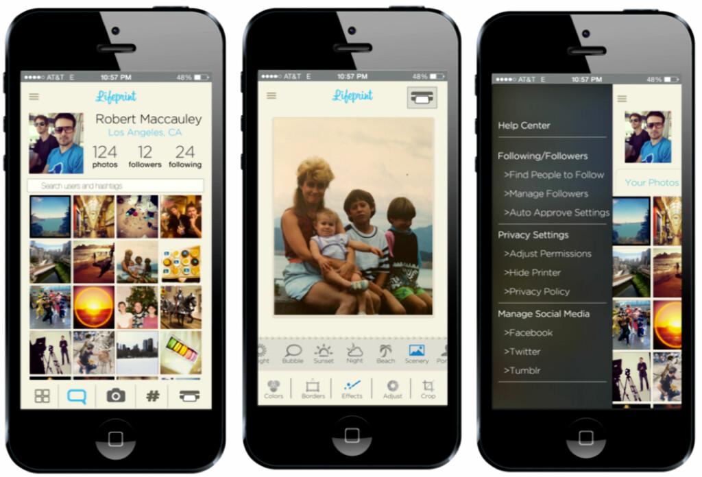 Printeren vil være kompatibel med både iOS- og Android-enheter. Appen fungerer som et sosialt nettverk og bilderedigeringsprogram i ett.