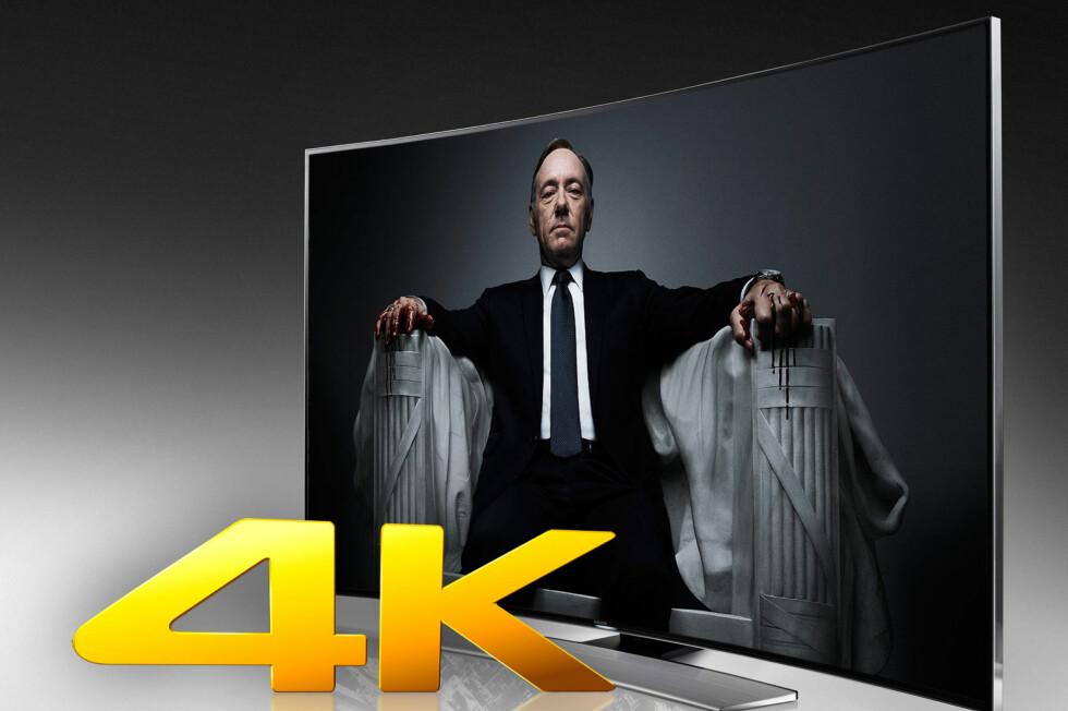 Netflix tilbyr allerede House of Cards i 4K, mens Breaking Bad i 4K er ventet i løpet i av året. Foto: SAMSUNG / OLE PETTER BAUGERØD STOKKE