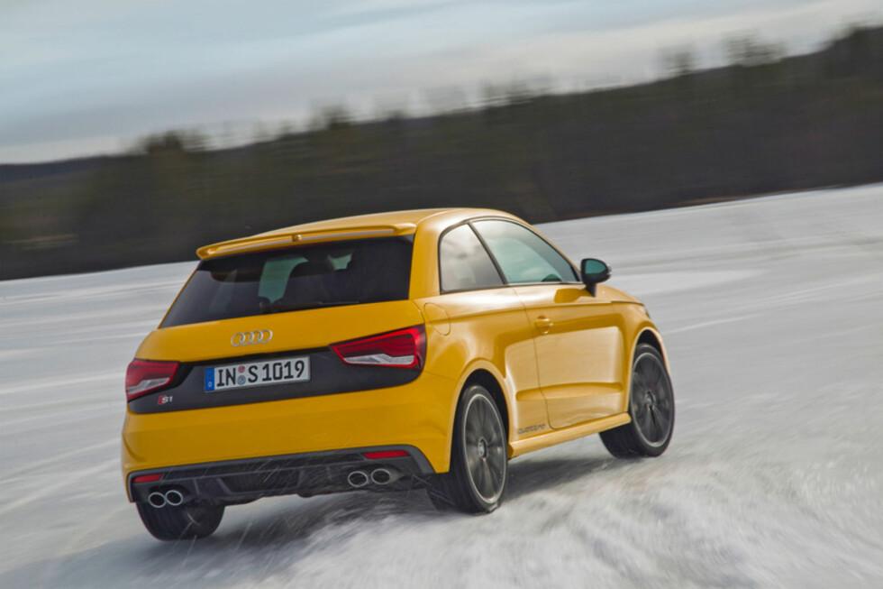 GULT ER KULT: Den gule fargen passer til en bil som er både morsom og kul å kjøre.  Foto: Audi