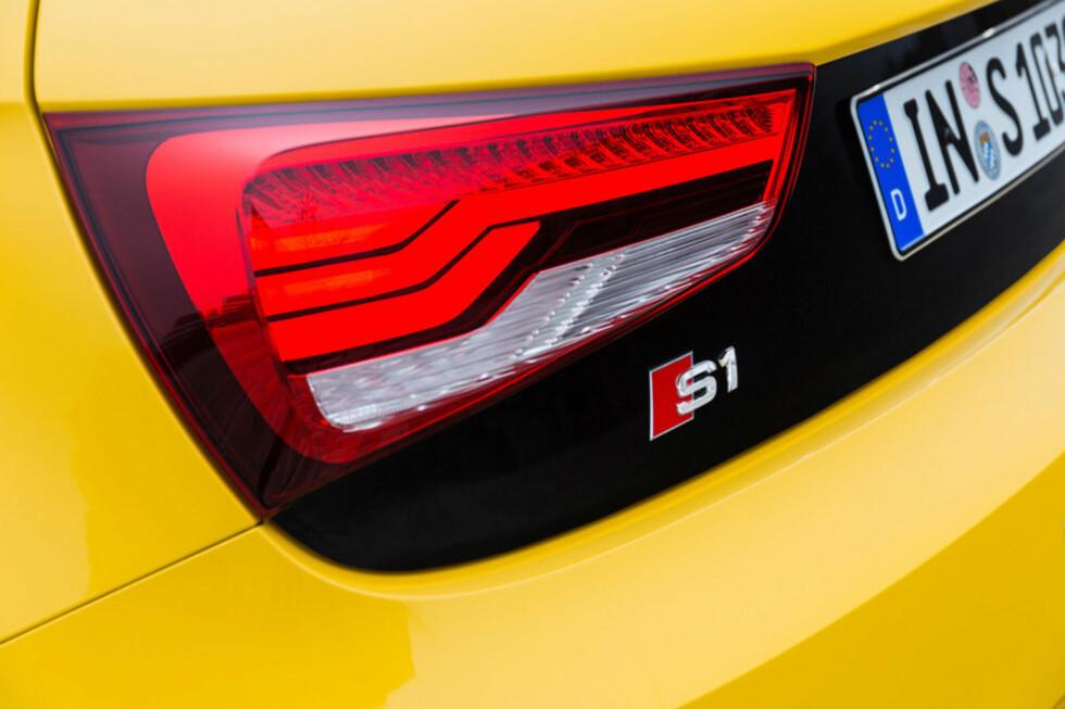 BAKLYS: De nye baklysene er nok det de fleste vil se av S1 på vinterstid.  Foto: Audi