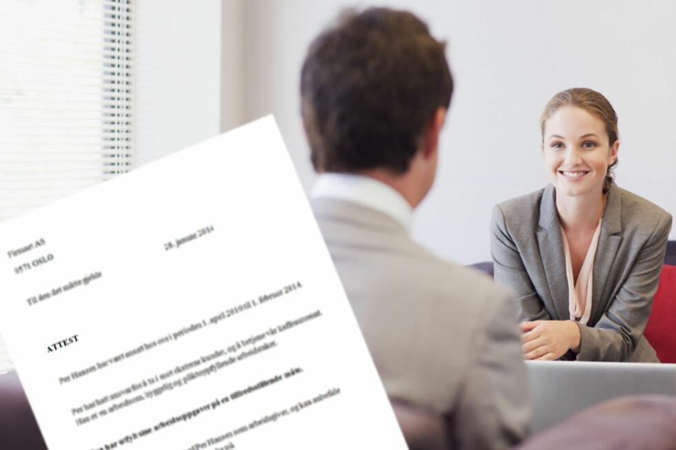 ER ATTESTEN DØD? Ikke ifølge rekrutteringsekspertene, som mener attester og referanser utfyller hverandre når du søker ny jobb. Foto: ALL OVER PRESS