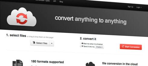 Konvertér filer på nett