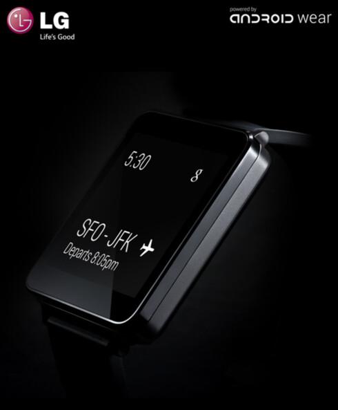 FIRKANTET: LG G Watch.  Foto: LG