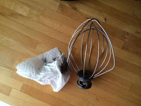 MATOLJE MOT FLEKKENE: Litt kjøkkenpapir med matolje på er alt som skal til. Foto: ELISABETH DALSEG