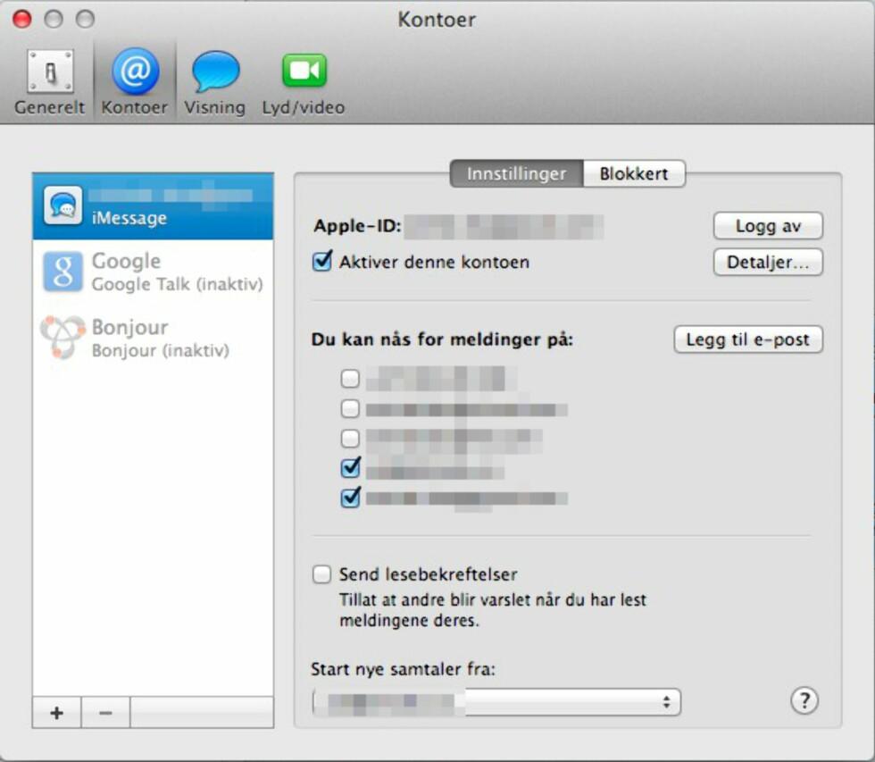 iMessage er også tilgjengelig på Mac. Du kan fortsette å motta meldinger på datamaskinen din, men da må du fjerne telefonnummeret ditt.