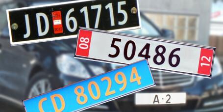 Kjenner du igjen bilskiltene?
