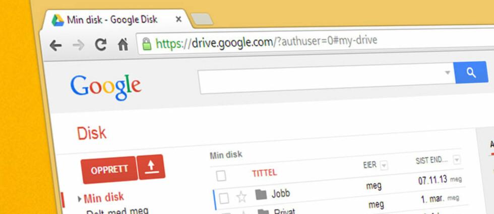 For 12 kroner i måneden kan du nå lagre inntil 115 GB hos Google.