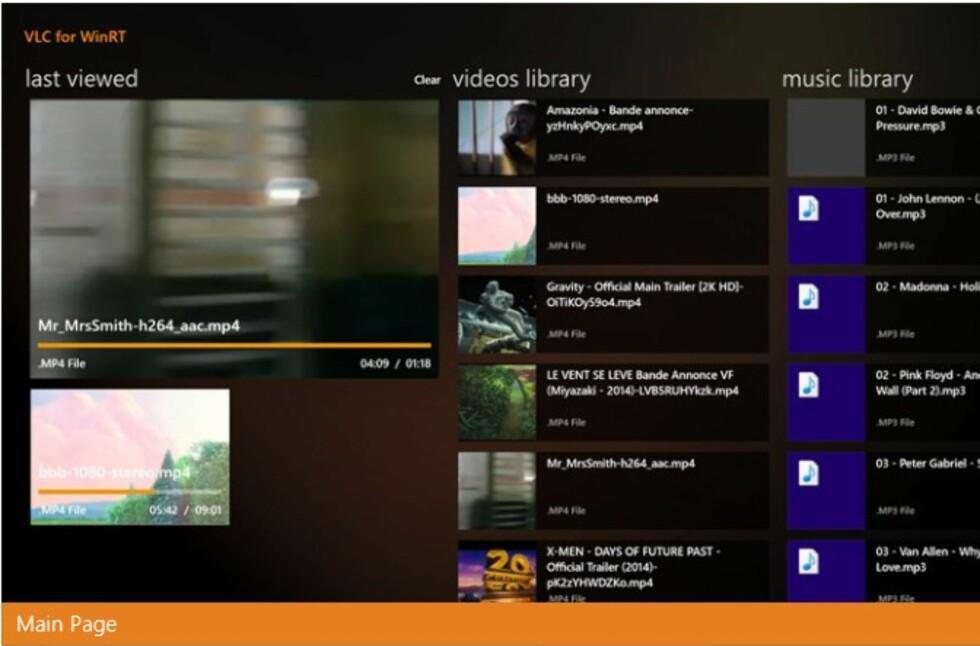 VLC for Windows 8 har fått et meget lekkert, berøringsvennlig grensesnitt. Betaversjonen kan du laste ned gratis allerede nå.