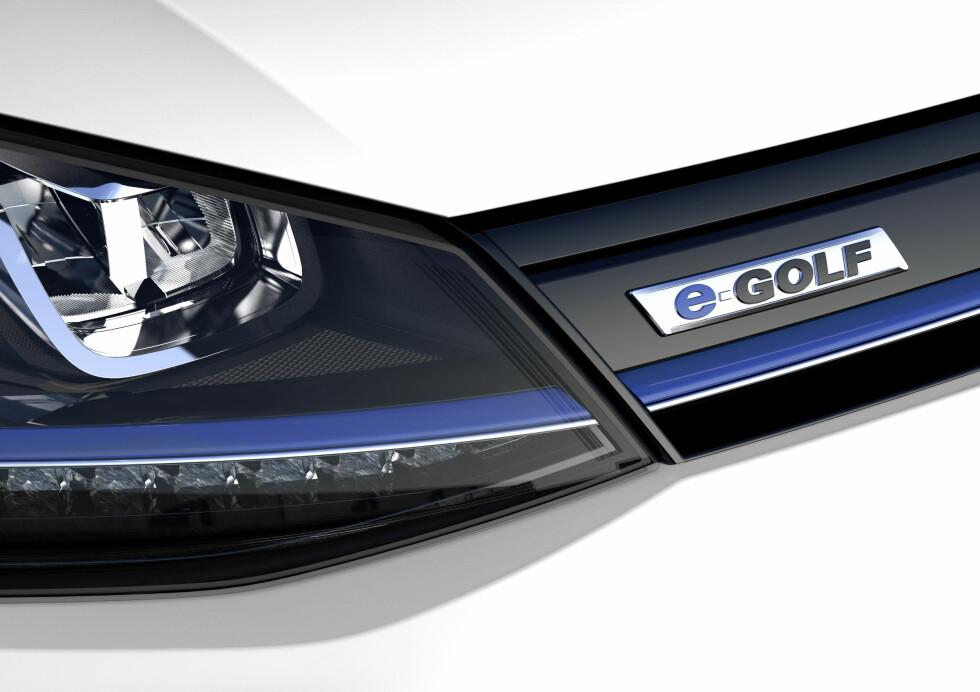 MEST SOLGTE: VW e-Golf ble landets mest solgte ladbare bil til og med juli i år, når elbilene og de ladbare utgavene legges sammen.  Foto: VW