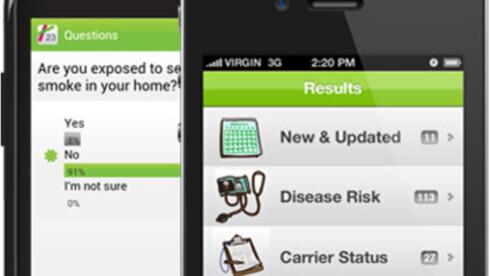 APP: Det er bare å rydde plass på smarttelefonen: Helseapper er et marked i voldsom vekst.  Foto: 23andMe