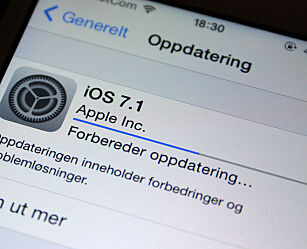 image: Nå kan du laste ned iOS 7.1