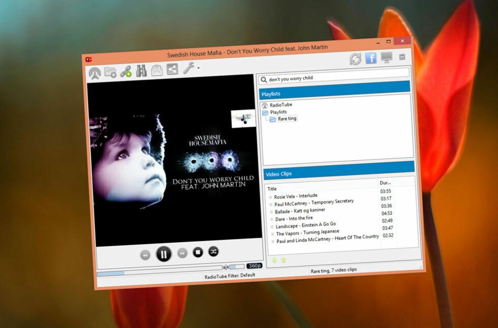 YTubePlayer er en glimrende musikk/videospiller som henter alt fra YouTube og med best mulig lydkvalitet.