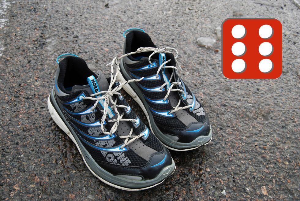 FORNØYD: De beste vi har prøvd, mener testeren som har brukt skoene i skogen. Foto: THOMAS STRZELECKI