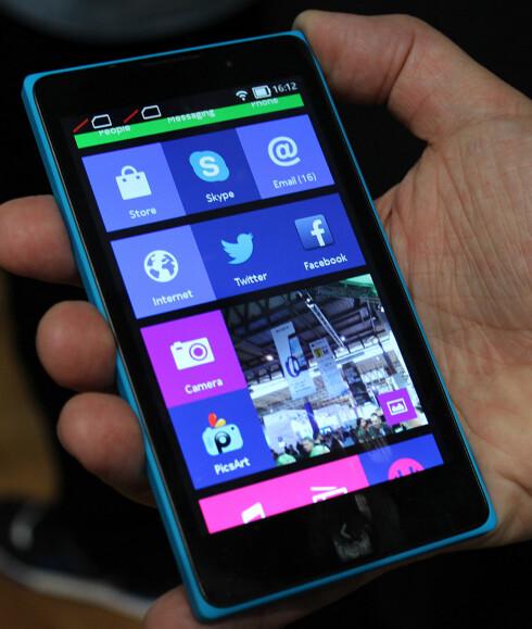 SJOKKERT MANGE: At Microsoft-eide Nokia lanserte en Android-mobil på årets MWC sjokkerte mange. Men det er lite som minner om Googles operativsystem i Nokia X. Foto: KIRSTI ØSTVANG