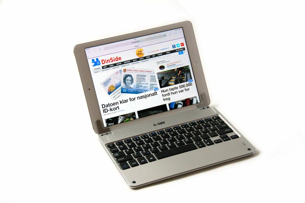 SYNET BEDRAR: Med dette iPad Air-tastaturet blir nettbrettet til forveksling lik en liten PC - eller Mac. Foto: Brynjulf Blix