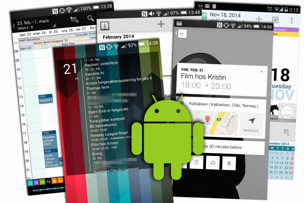 HVA SKJER'A: Med en god kalenderapp på Android-mobilen får du full oversikt. Foto: KIRSTI ØSTVANG