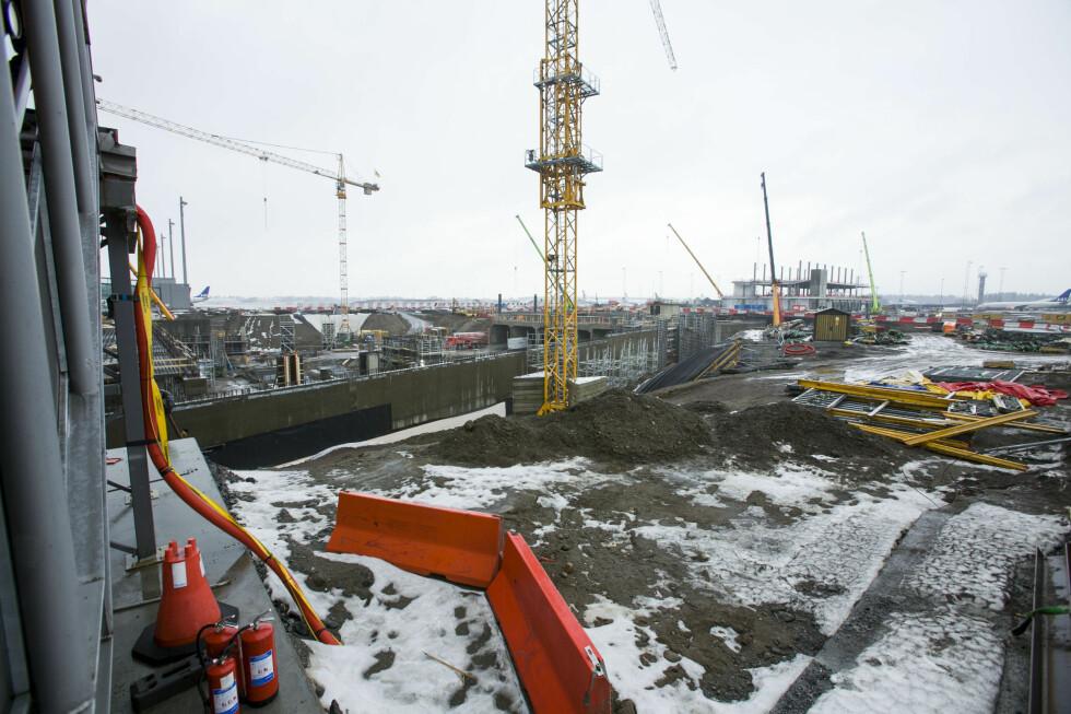 Her bygges pir nord. Foto: PER ERVLAND