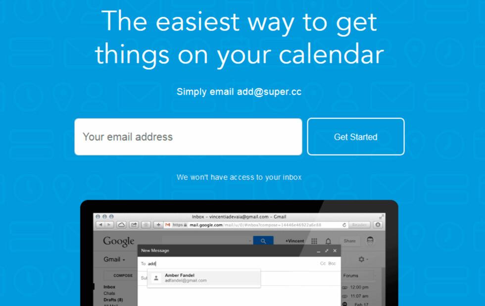 Opprette kalenderavtaler via epost