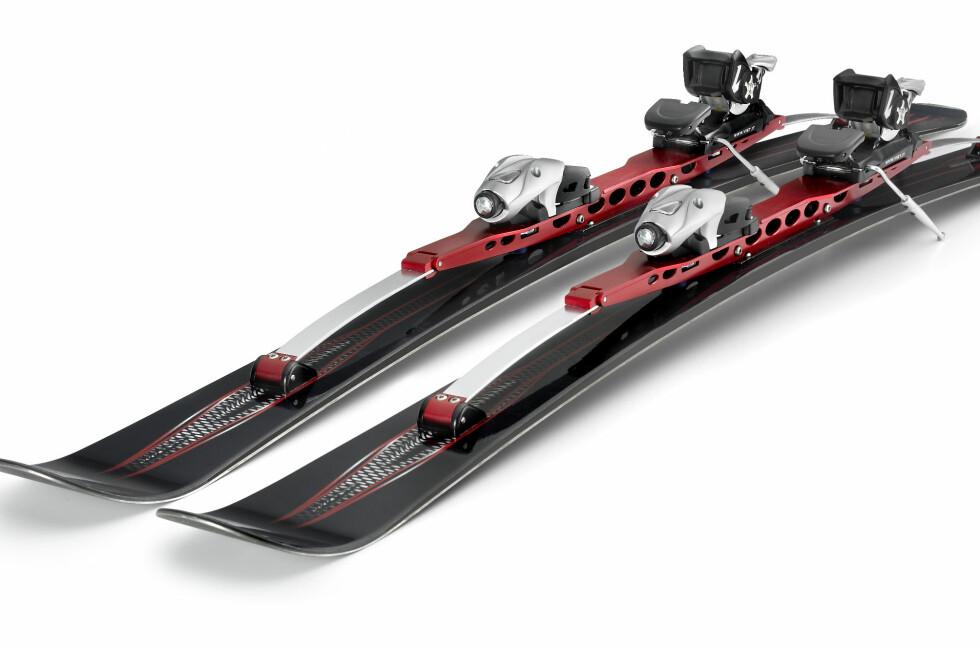 GIMMICK? Nei, sier vår utsendte mann som fikk testet skiene med aktiv demping.  Foto: ANTONSKIS.COM