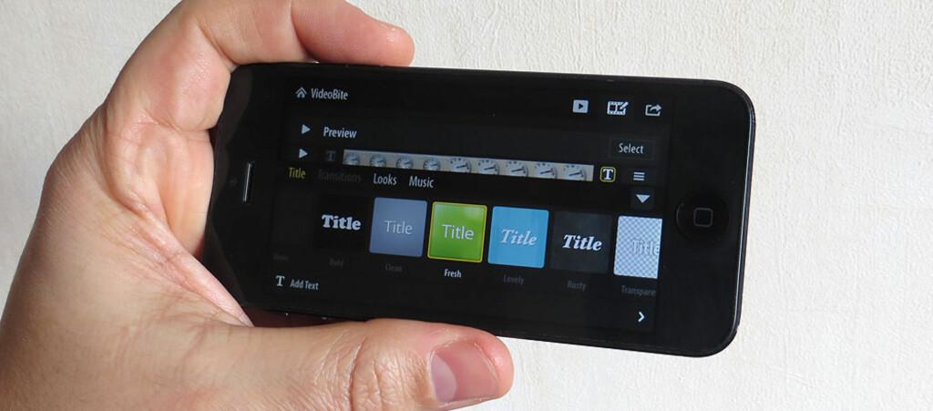 Tiden da du trengte en PC for å redigere videoer er definitivt over. Adobe VideoBite gjør det til en lek å sette sammen bilder, videoklipp og legge på tekst, effekter og overganger - rett på mobilen. Foto: Bjørn Eirik Loftås