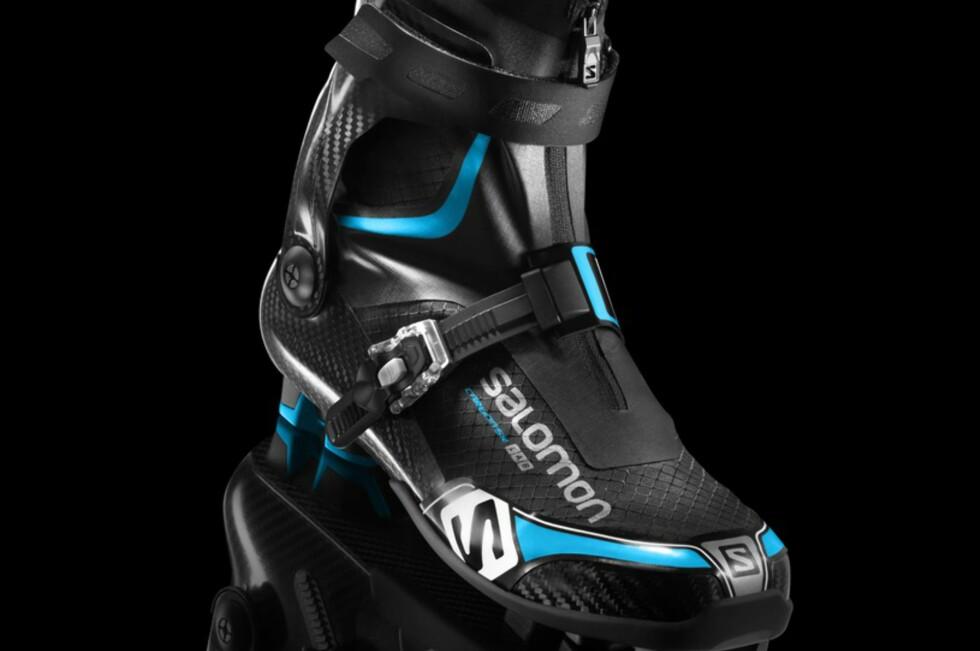 KAN BYTTES UT: Slitedelene på skoen, altså innersokken og yttersålen, kan erstattes.  Foto: Salomon/Amersports