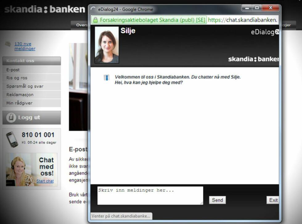 Skandiabanken advarer ikke.