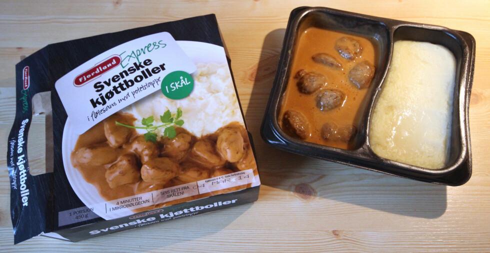 Fjordlands Svenske kjøttboller i fløtesaus med potetstappe: God smak av fløte. Foto: OLE PETTER BAUGERØD STOKKE