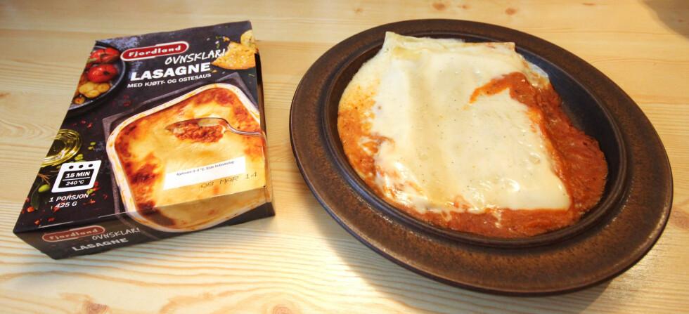 Fjordlands Ovnsklar Lasagne med kjøtt- og ostesaus: Vi skulle gjerne hatt litt ost på toppen. Foto: OLE PETTER BAUGERØD STOKKE