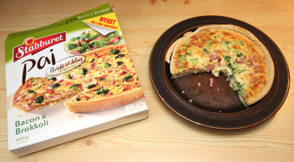 Stabburets bacon- og brokkolipai har god smak av bacon og brokkoli. Foto: OLE PETTER BAUGERØD STOKKE