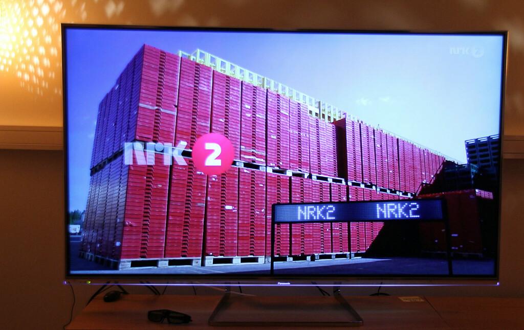 På NRK-sendinger i 720p får TV-en vist at den skalerer bra.  Foto: ØYVIND PAULSEN
