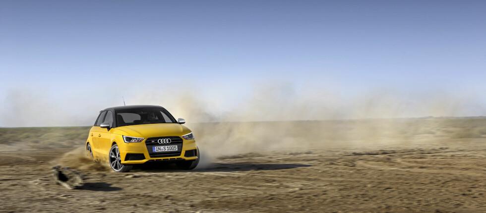 IKKE DEN RÅESTE: Men den råeste S1 du kan få kjøpt ny. Nye Audi S1, som vi aldri trodde ville bli realitet), er nemlig hakket mindre rask en spesialmodellen A1 quattro fra 2011. Foto: AUDI