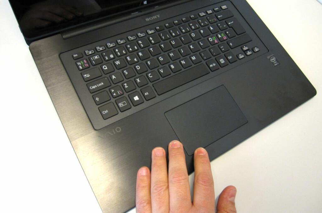 Godt tastatur og pekeplate, akkurat som vi er vant til fra tidligere tester av Vaio-maskiner.