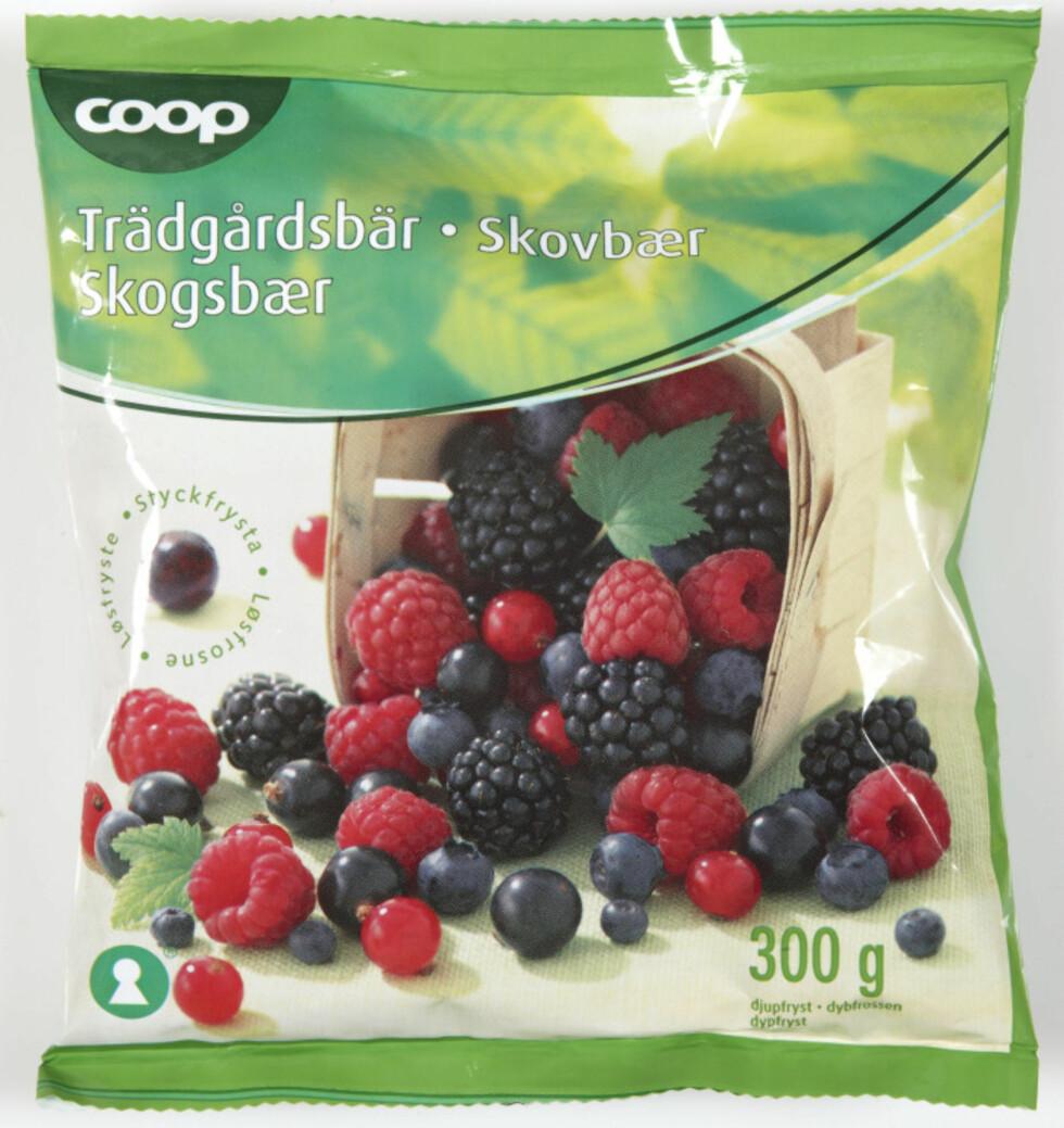 <b>Publisert på Matportalen 6. januar 2014:</b> Coop Norge trekker tilbake produktet Coop Skogsbær 300 g. Årsaken er funn av norovirus i produktet. Foto: COOP