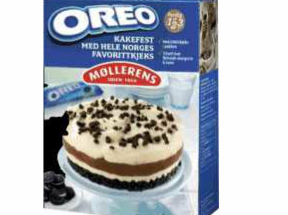<b>Publisert hos Matportalen 14. mai 2013:</b> Norgesmøllene AS trekker midlertidig tilbake Oreo kakemiks, etter at det er funnet spor av egg i produktet. Produktet kan utgjøre en risiko for forbrukere med eggeallergi. Foto: Matportalen