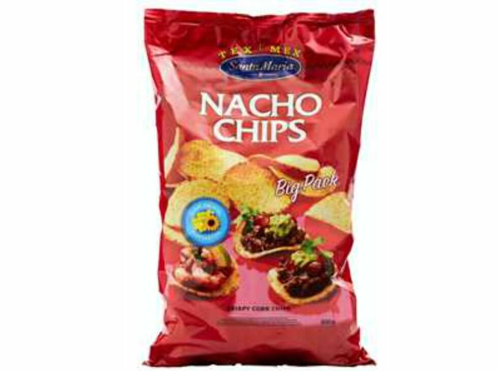 <b>Publisert på Matportalen 25. mars 2013:</b> Santa Maria AS trekker tilbake produktet «Nacho Chips 500g» med best før dato 25.11.2013. Årsaken er at det er funnet spor av melkeprotein som kan innebære en risiko for melkeproteinallergikere. Foto: Matportalen