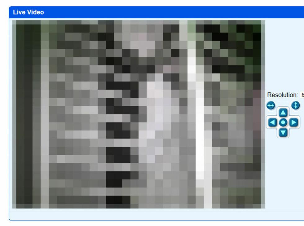 EN MORS MARERITT: Dette er et webkamera som overvåker en barneseng, hvor alle og enhver kan se direkteoverføring av noens barn.  Foto: OLE PETTER BAUGERØD STOKKE