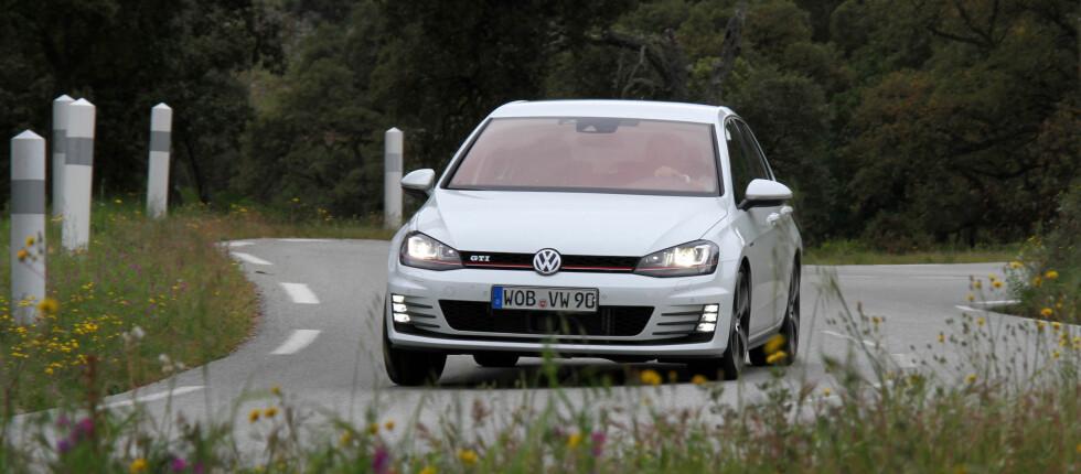 DEN TREDJE I REKKEN: VW Golf kommer som plug-in hybrid, og med navnet GTE, men ikke før i 2015. Foto: Fred Magne Skillebæk