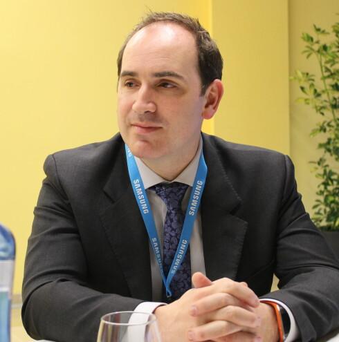 Luke Mansfield leder Samsungs europeiske produktutviklingsteam. Foto: ELISABETH DALSEG