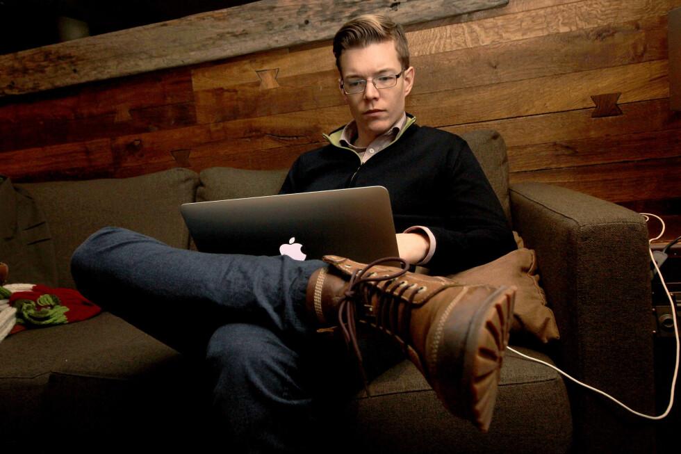 USIKKERT: Einar Otto Stangvik har laget søkemotoren Usikkert.no for å vise nordmenn hvor mye som ligger åpent på nettet.  Foto: Ole Petter Baugerød Stokke