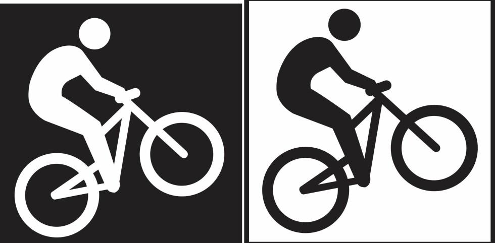 Forskjellen: Terrengsykling for eksperten (til venstre) og ugradert løype (til høyre). Foto: DNT/MERKEHÅNDBOKA