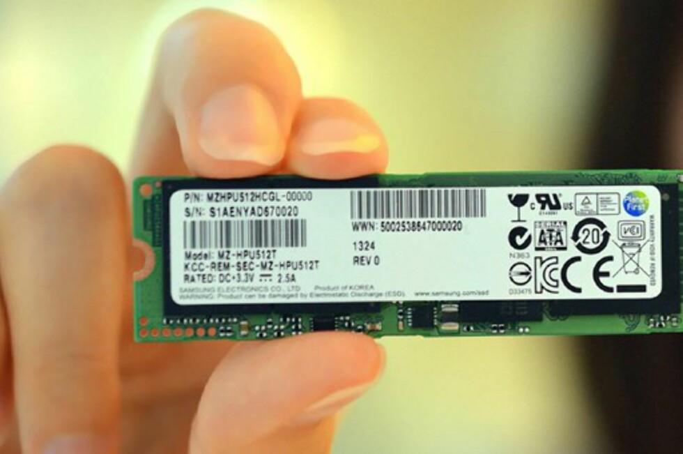 VIKTIGE FORSKJELLER: SSD med PCIe, knuser SATA og mSATA. Foto: Samsung