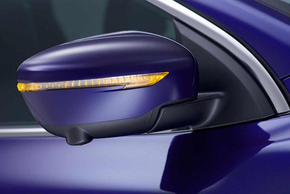 Speilhusene er tøffe, og som ekstrautstyr kan du få dem i krom-utførelse. Foto: Nissan