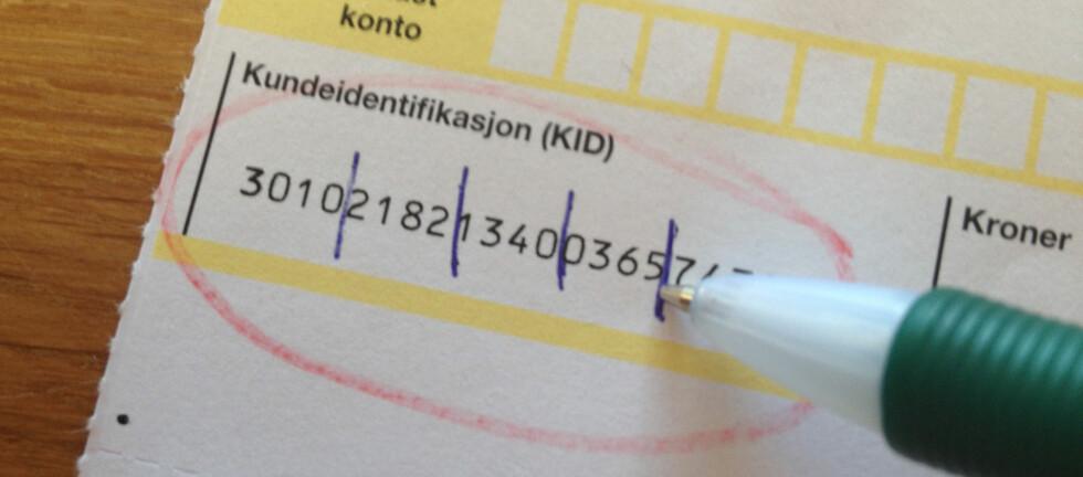 LEI? Med eFaktura og AvtaleGiro slipper du unna de irriterende KID-nummerne. Stadig flere nordmenn tar disse betalingstjenestene i bruk. Foto: Tuva Moflag