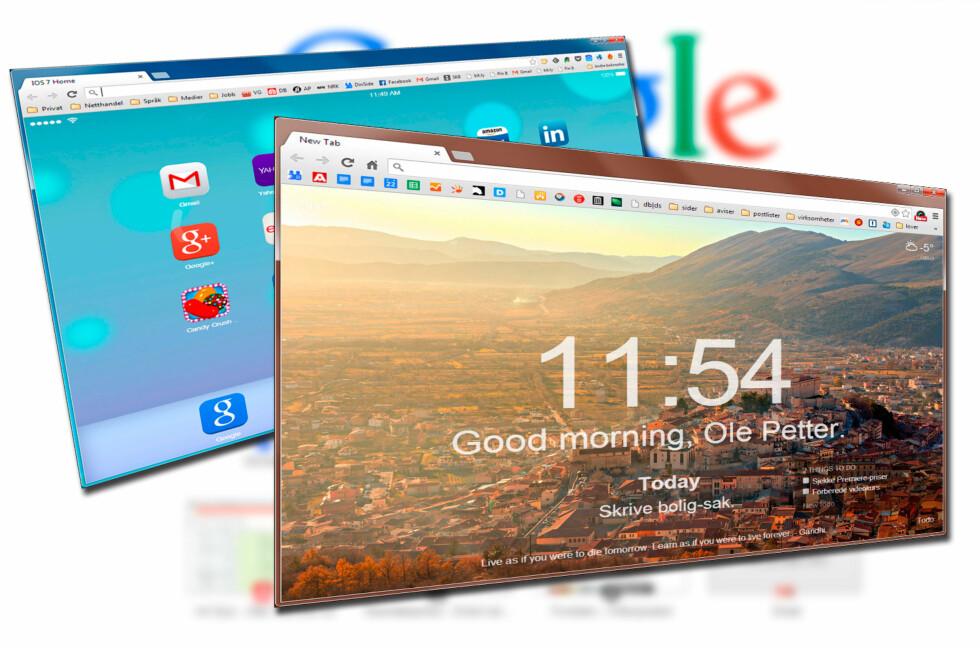 LEI TOM STARTSIDE? Sprit opp Chrome med en av disse utvidelse. Foto: DINSIDE.NO
