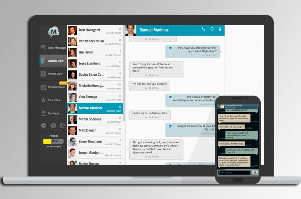 Med større skjerm og tastatur, kan det være enklere å skrive tekstmeldinger fra datamaskinen. MightyText fikser biffen for Android-brukerne.