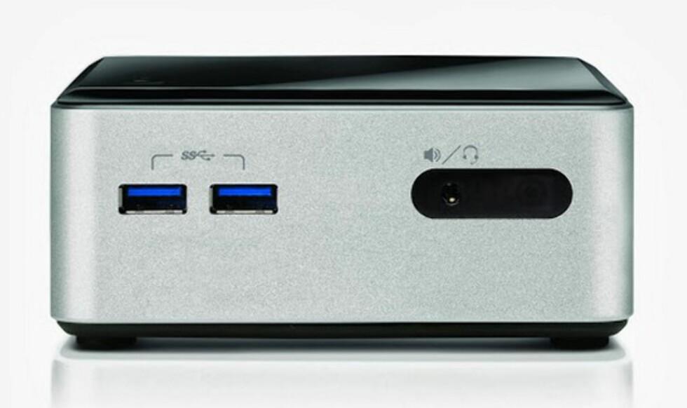 Den nyeste NUC-en kommer i dobbeldekker-utgave med plass til både To SSD-er, eventuelt en SSD og en harddisk.