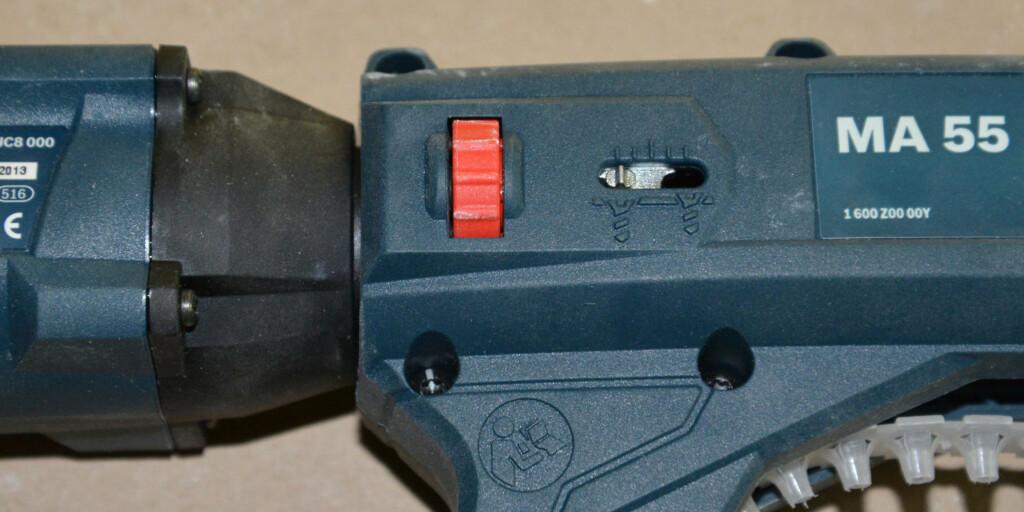 Justering av skruedybde er enkel og svært funksjonell. Foto: Brynjulf Blix