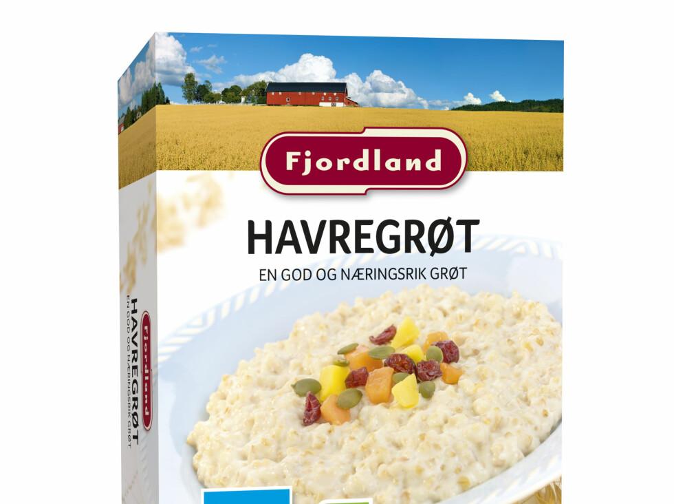 Mer grøt: Fjordland hadde stor suksess med sin byggrynsgrøt i fjor. Nå kommer de med en ny havregrøt. Grøt er in! Foto: FJORDLAND