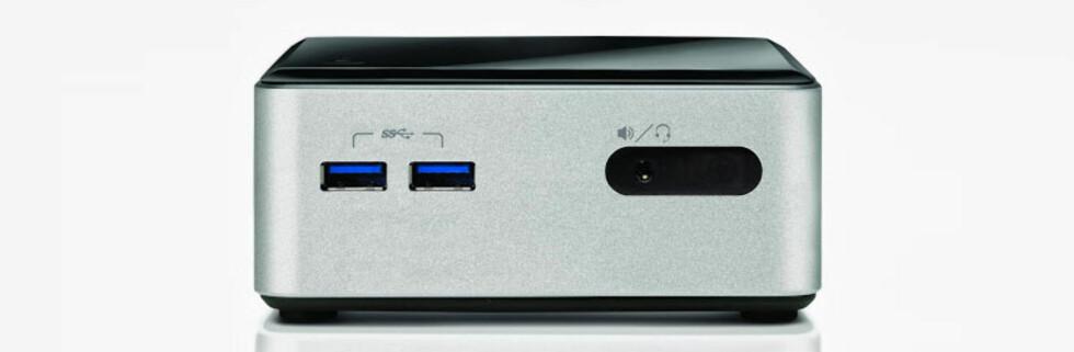 Den er blitt høyere, men fortsatt er det snakk om en meget liten PC. Nå med mulighet for massevis av lagringsplass. Foto: Intel